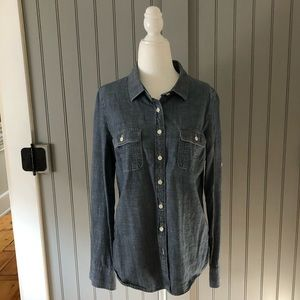 J. Crew denim shirt Medium